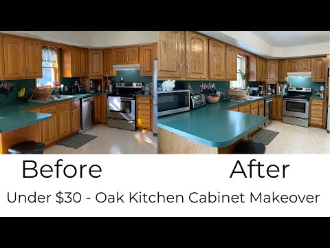 Kitchen Cabinets Remodel Ideas | Briwax Tudor Brown | EASY & CHEAP