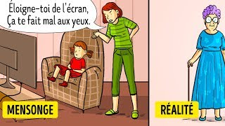 10 Mensonges Que Nous Disaient Nos Parents