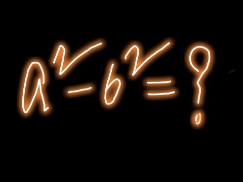 Mathematics analysis of formula a^2-b^2