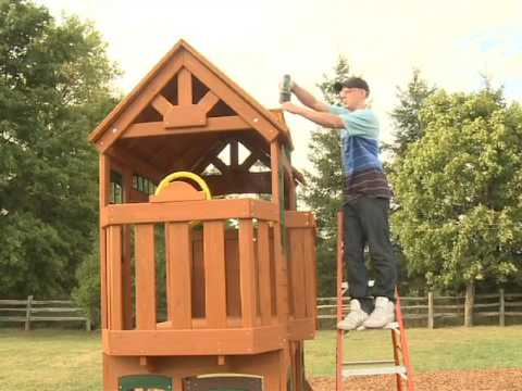 Cedarview Resort Backyard Playset   How To Video Steps 21   30 | DIY  Installation