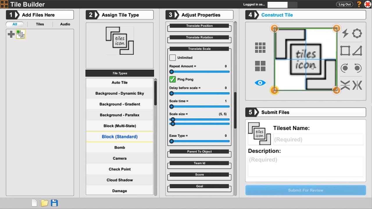 37 Tile Builder Translate Scale
