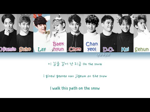 EXO - On The Snow (발자국) (Korean Ver.) (Color Coded Han|Rom|Eng Lyrics) | By Yankat