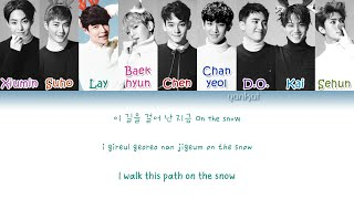 Download EXO - On The Snow (발자국) (Korean ver.) (Color Coded Han|Rom|Eng Lyrics) | by Yankat MP3 song and Music Video
