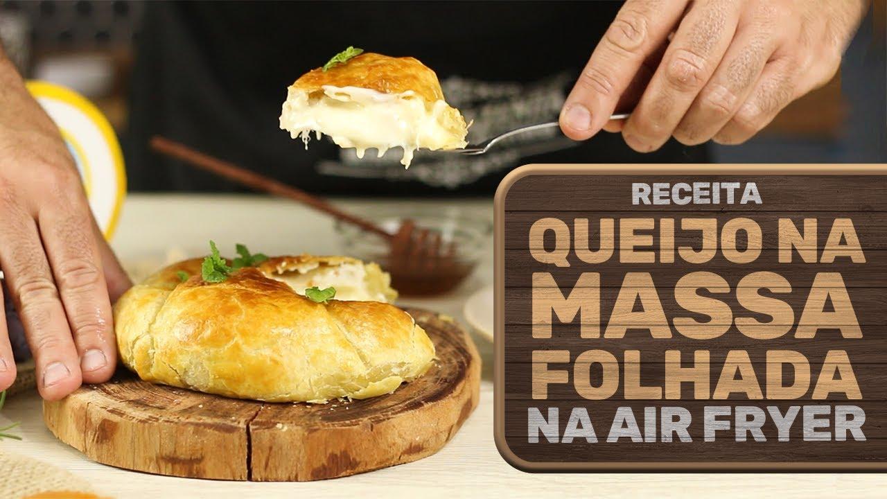 Queijo Recheado na Massa Folhada feito na Air Fryer