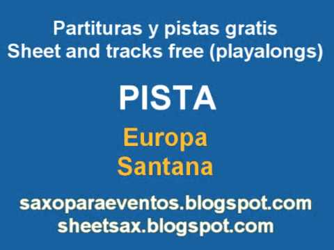Partitura y pista de Europa de Santana - Sheet music and playalong