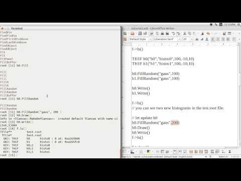 CERN ROOT tutorial for beginners  -- 1. File I/O (TFile Class)