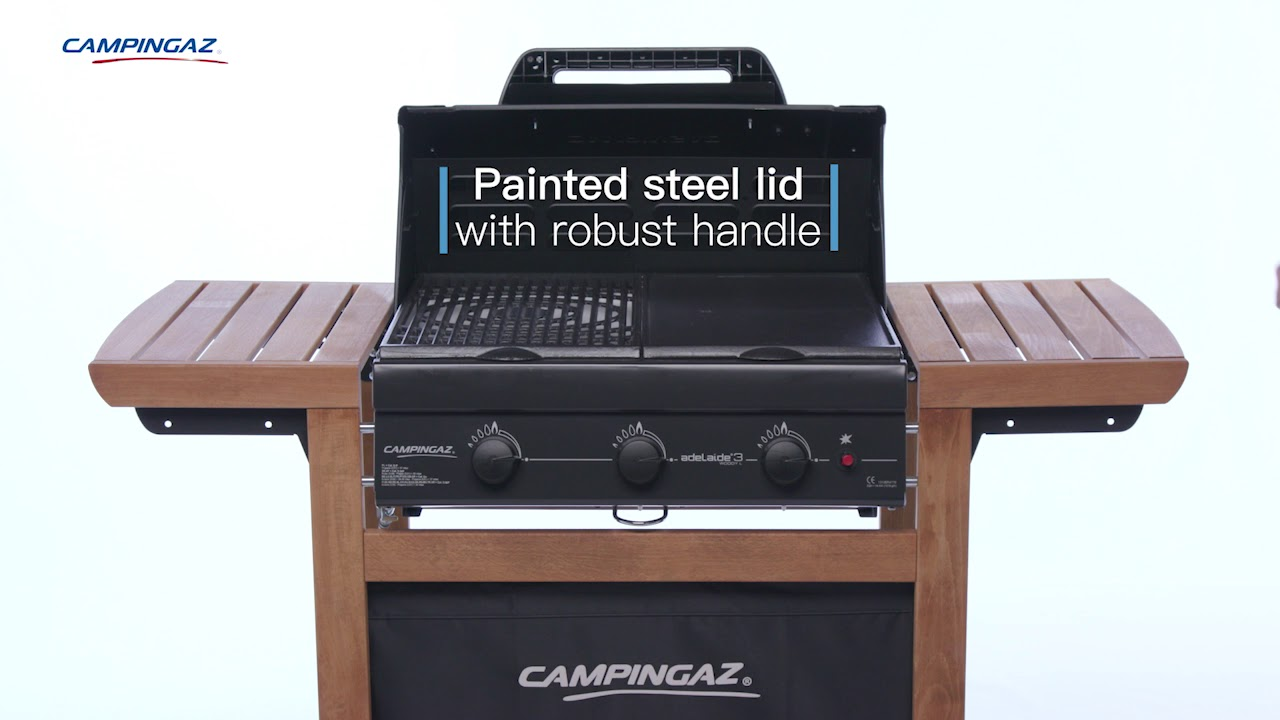 Campinggaz Grill Campingaz 3 Series Adelaide Woody L 3 Burner Bbq With Wooden Trolley