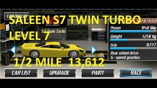 Repeat youtube video Drag Racing Saleen S7 Twin Turbo Level 7 Tune 13,612 1/2 Mile
