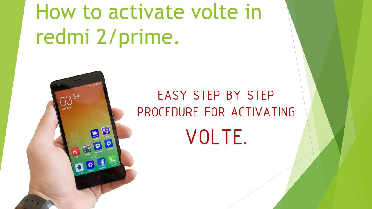 How to activate volte in redmi 2   JiO 4G sim (The simplest way)