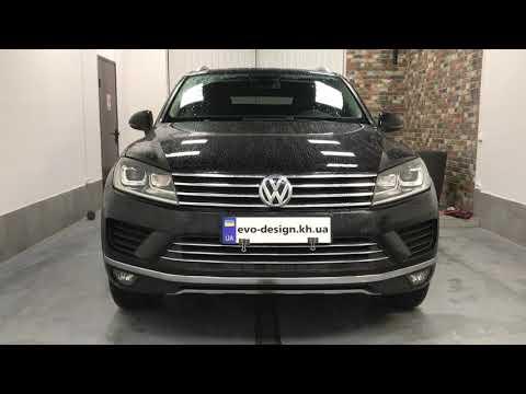 Volkswagen Touareg NF установка рестайлинговых фар подключение замена линз регулировка