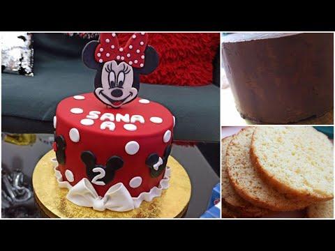 gâteau-minnie-mouse-disney-pâte-à-sucre_-كيكة-ميني-ماوس-،-بعجينة-السكر