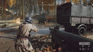 SUDDEN AMBUSH on French Legionnaires in Forest ! In FPS Game about WW2 Battlefield 5