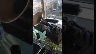 Testing Edison Phonograph