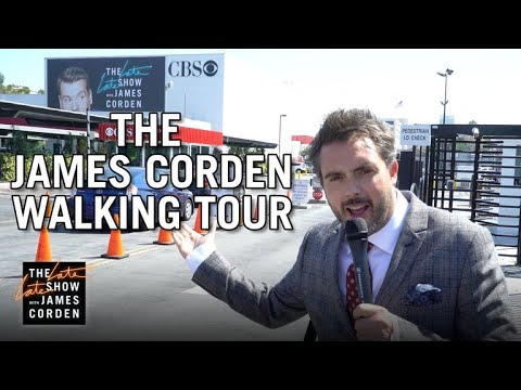 James Corden Walking Tour of CBS Television City