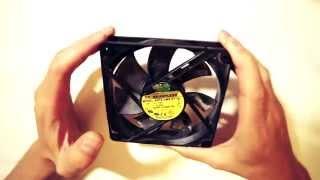 Разборка вентилятора блока питания 120 мм