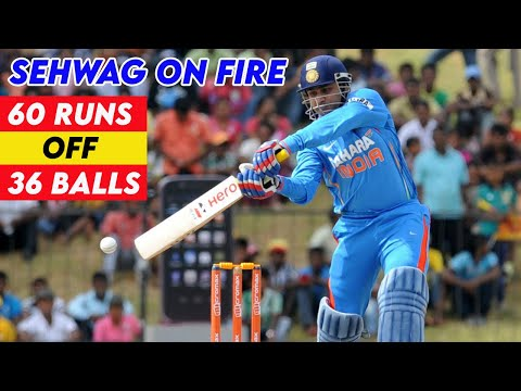 Virender Sehwag 60 off 36 Balls - Asia Cup 2008 Final | Insane BRUTAL ASSAULT on Every Bowler!!