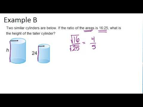 Area and Volume of Similar Solids Examples Geometry Concepts  YouTube