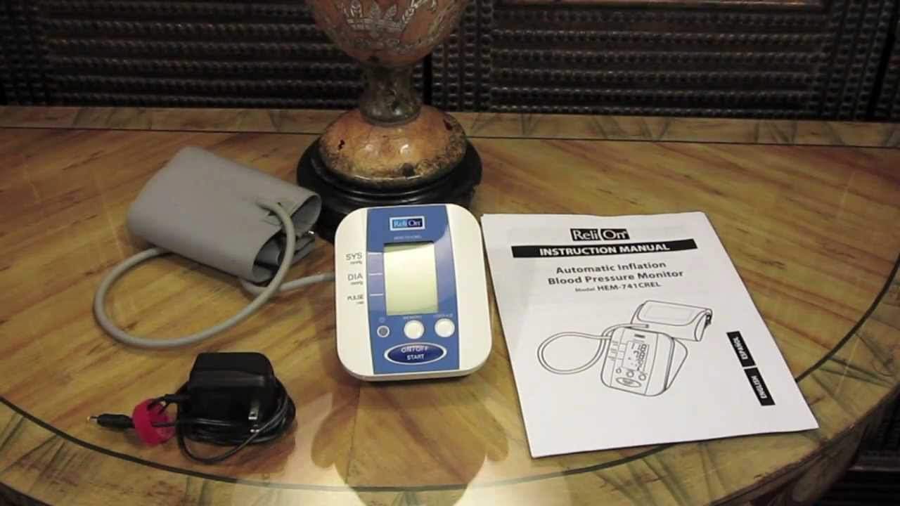 How To Use The Reli On Blood Pressure Monitor Youtube
