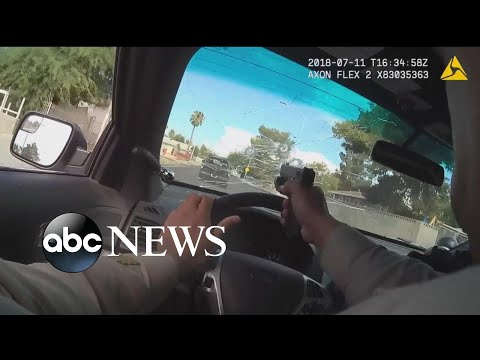 See Police Bodycam Show Officer Firing through Windshield During Chase!