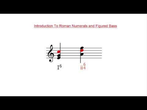 Introduction to Roman Numerals and Figured Bass Notation
