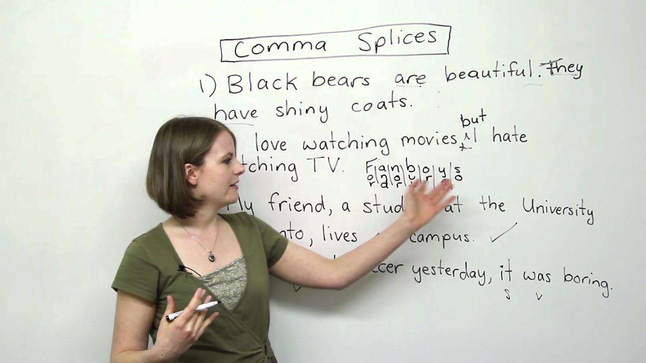 Writing In English Comma Splices Engvid