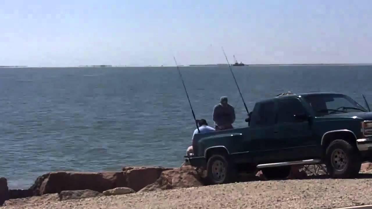 Texas city dike youtube for Texas city fishing