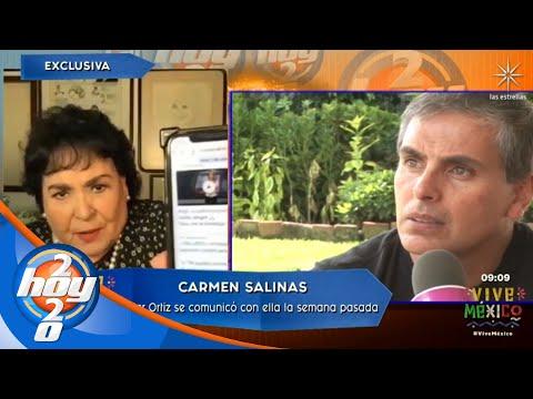Carmen Salinas comparte la última comunicación que tuvo con Xavier Ortiz | Hoy
