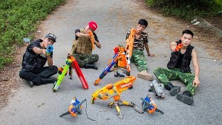 Nerf War Movies : Squad Alpha Nerf Guns Fight Criminal Gang Shooting Nerf Wars