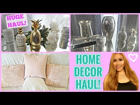 HOME DECOR HAUL ♡ T.J, MARSHALLS, ROSS | PINK GOLD AND SILVER DECOR