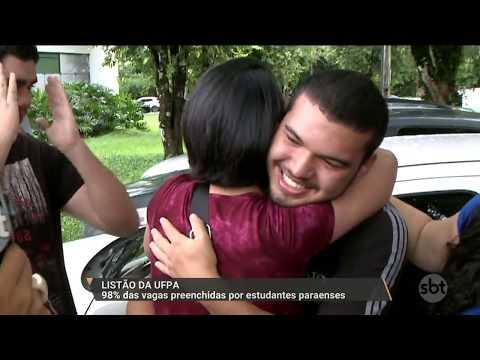 SBT PARÁ (25.01.18) Listão UFPA: 98% das vagas preeenchidas por estudantes paraenses