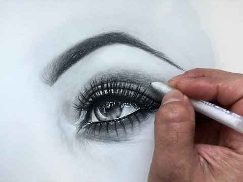 Adding highlights to eye drawing youtube adding highlights to eye drawing ccuart Gallery