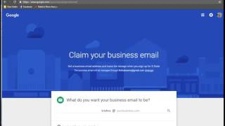 Business email in Google via Gmail