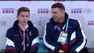 Андрей Мозалёв Юношеские зимние Олимпийские Игры 2020 Короткая программа