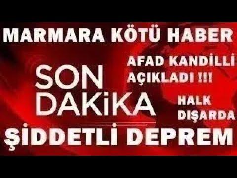 Marmara ŞİDDETLİ Korkutan DEPREM! SON DAKİKA Haberi Açıklaması