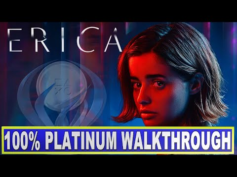 Erica 100% Platinum Walkthrough | Trophy Guide - All Endings - All Trophies