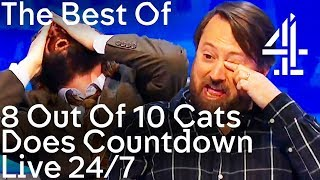 The BEST BITS from 8 Out of 10 Cats Does Countdown | 24/7 Live Stream!