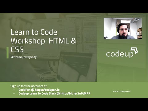 Learn To Code HTML & CSS With Codeup (Part 1/2)