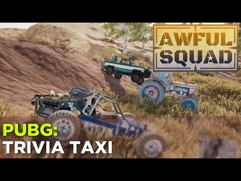 AWFUL SQUAD: Griffin, Russ, Simone, Jenna ride the TRIVIA TAXI