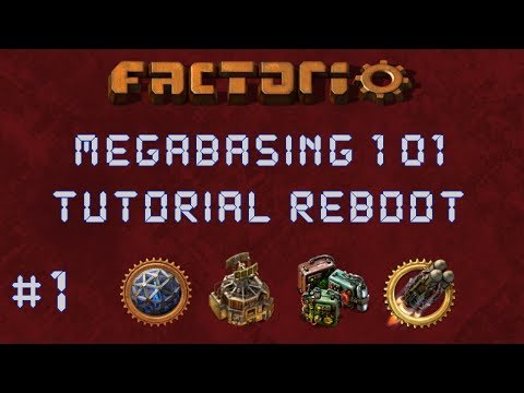 Factorio: Megabasing 101 Reboot EP1: Base Tour & Rail / Smelting Concepts - Tutorial Series Gameplay