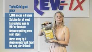 Screwfix Buyer Nancy Bailey Demonstrates TurboGold® Woodscrews Trade Grab Pack 1000Pcs