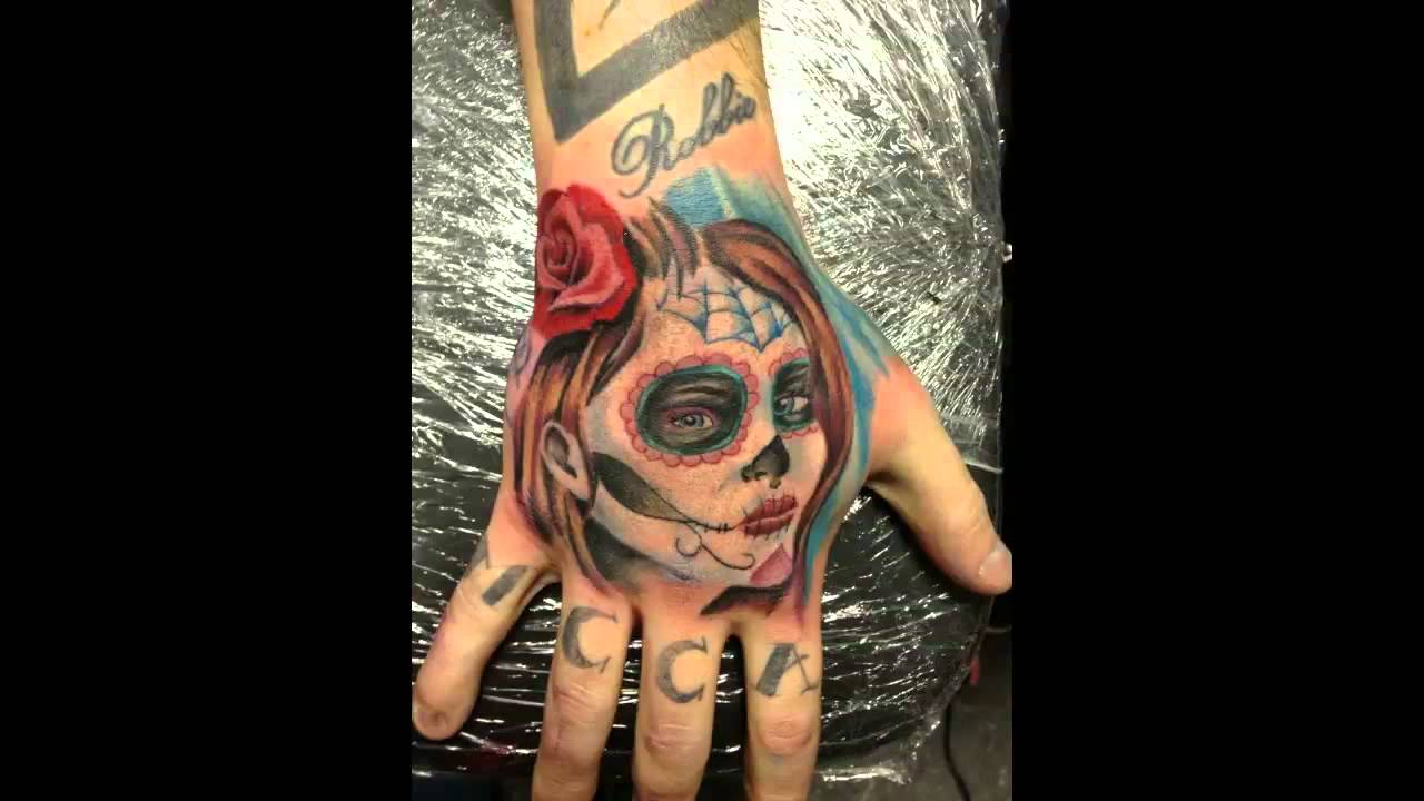 Victor 2012 Tattoo Shop Day Of The Dead Girl Youtube