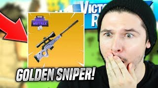 GOLDEN SNIPER RIFLE IN ROBLOX FORTNITE (Island Royale)