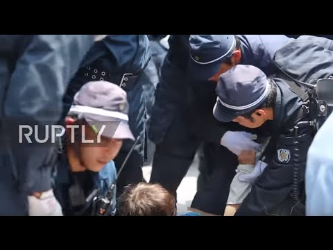 Japan: Police remove protesters blockading Okinawa's US military base