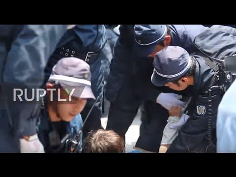 Japan: Police remove protesters blockading Okinawa's US military base