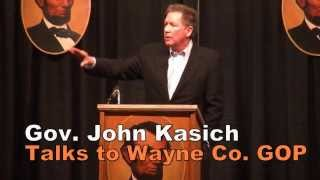 Gov. John Kasich speaks at 2014 Wayne County GOP Lincoln Day Dinner in Wooster, Ohio