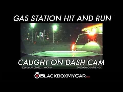 Gas Station Hit and Run Caught on a Dash Cam in Vancouver, BC - BlackboxMyCar