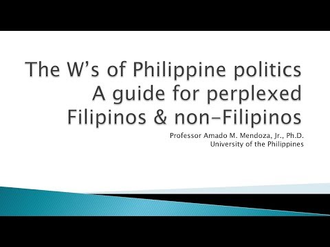 UP TALKS | The W's of Philippine Politics | Prof. Amado Mendoza
