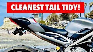Triumph Street Triple RS Motodynamic Fender Eliminator Install Tutorial! (So Clean Looking!)