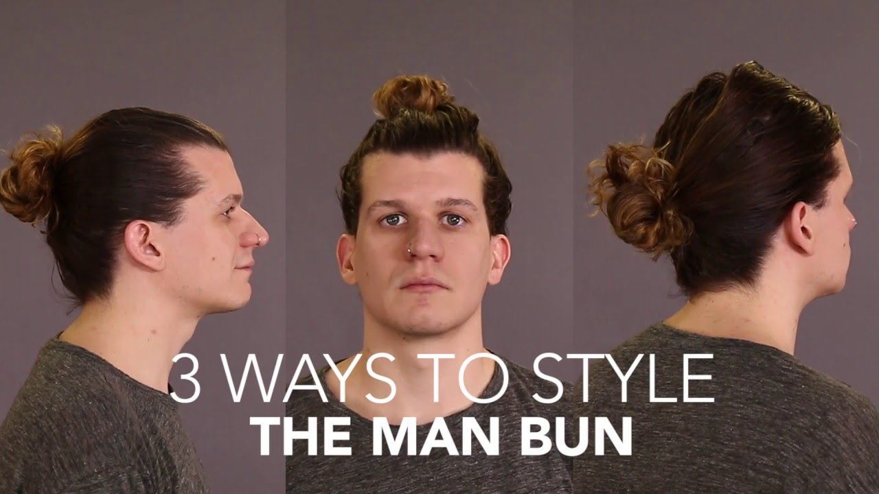 How To Cut And Style The Man Bun Youtube