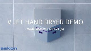 V Jet Hand Dryer - Actual Hand Drying Demo